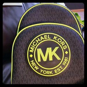 New! Michael kors neon backpack